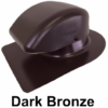 Bath Dryer Vent Metal Roofs - Dark Bronze